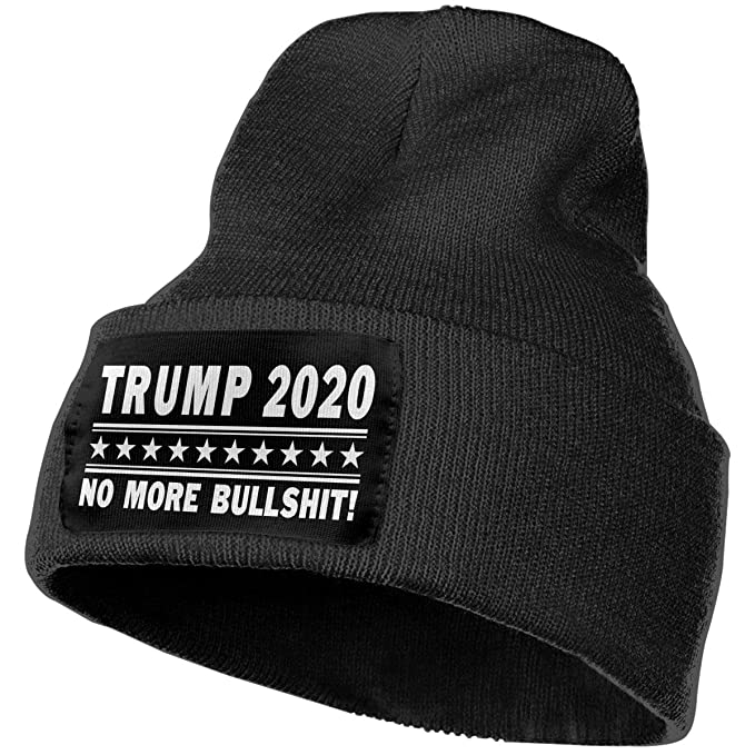 Trump 2020 No More Bullshit Black Unisex Mens Womens Skull Knit Hat Cap Ski Beanie  Hats at Amazon Men s Clothing store  8776291d316