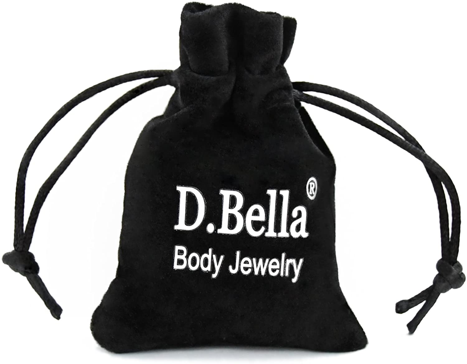 D.Bella 20G Nose Rings Hoop L-Shaped Nose Rings Studs Screw Stainless Steel CZ Different Shape Top 21pcs Nose Piercing Jewelry Set