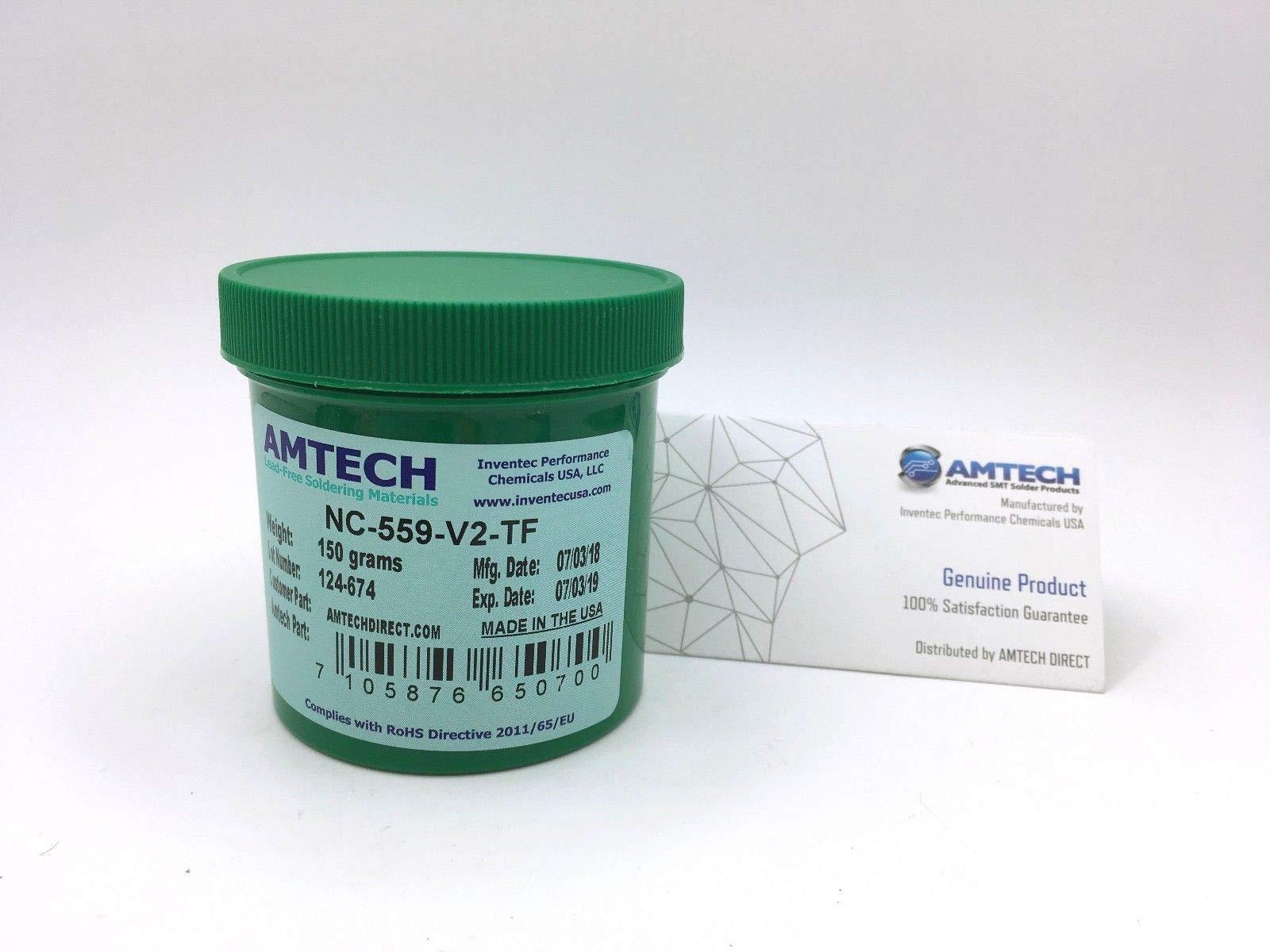 AMTECH NC-559-V2-TF no-clean tacky solder flux (ROL0) 150g jar USA 16145