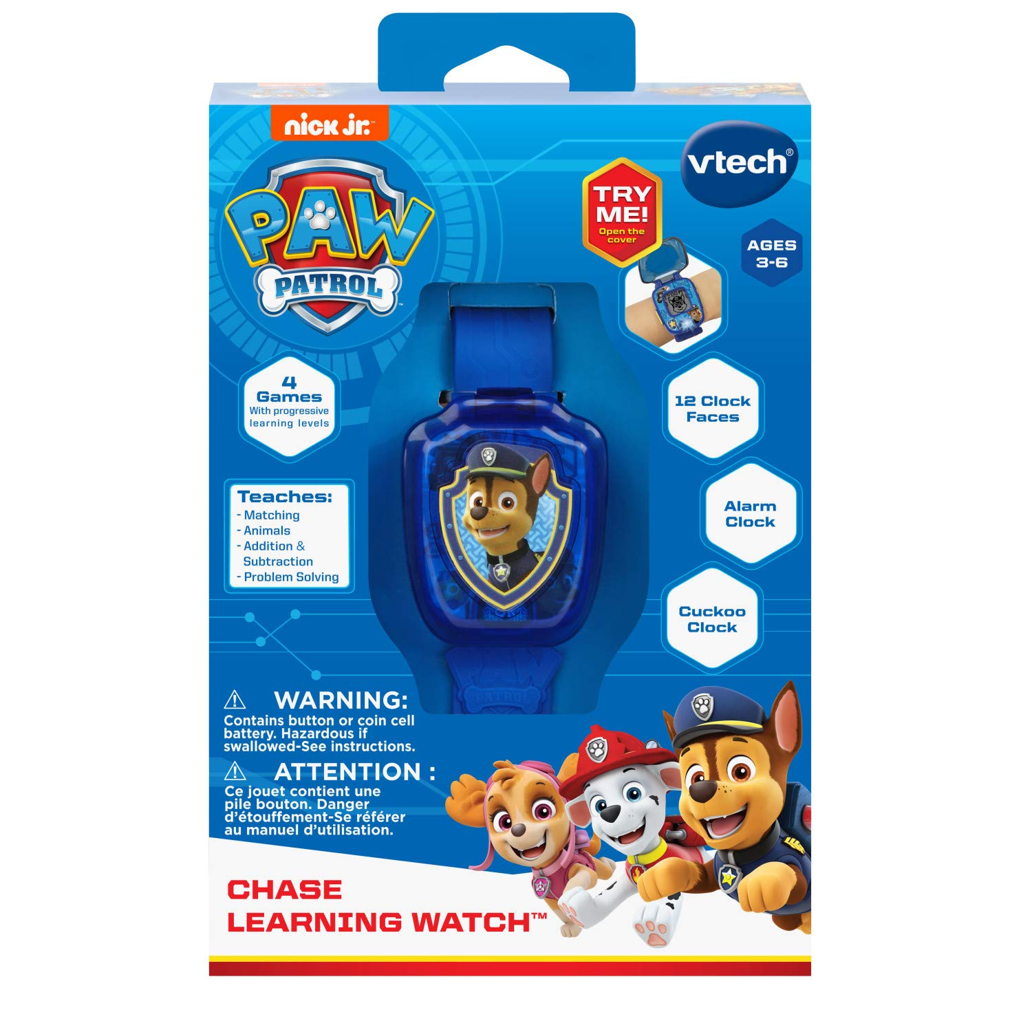 VTech Paw Patrol Chase Learning Watch, Blue by VTech (Image #5)