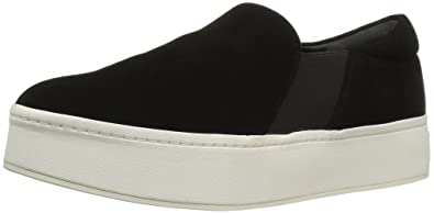 1340157a4 Vince Women's Warren Slip On Platform Sneaker, Black, 5 Medium US