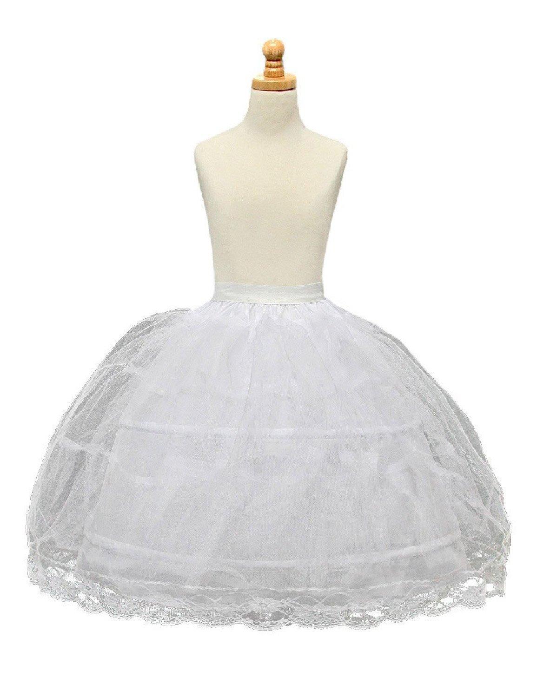 AliceHouse 2 hoops Flower Girl Crinoline Wedding Petticoat Ball Underskirt MPC020