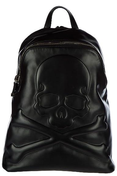 fb619b5cb Philipp Plein sac à dos homme en cuir going noir: Amazon.fr ...
