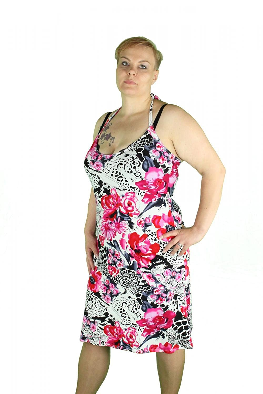 Kleid Ärmellos glatter Schnitt Rotschwarz, S/M/L/XL/XXL ...