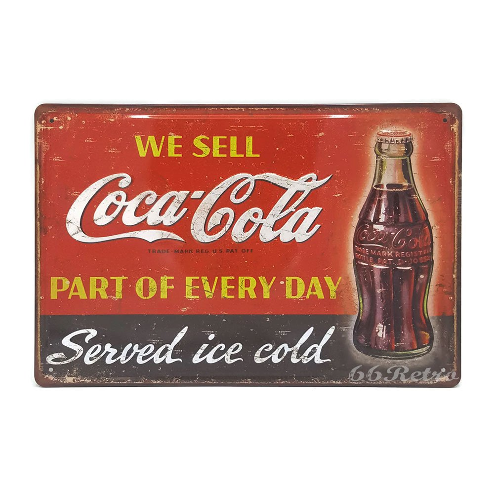 We Sell Coca Cola part of every day, Retro Embossed Metal Tin Sign, Wall Decorative Sign