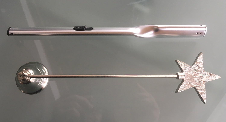 Dochtl/öscher Gilde Handwerk Kerzenl/öscher+Feuerzeug Set Glocke mit Stern Feuerzeug Twist