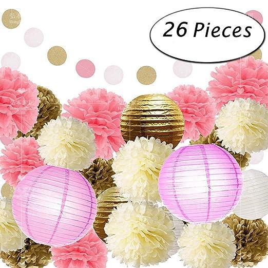 Juego de 26 pompones de papel para decoración de fiesta de ...