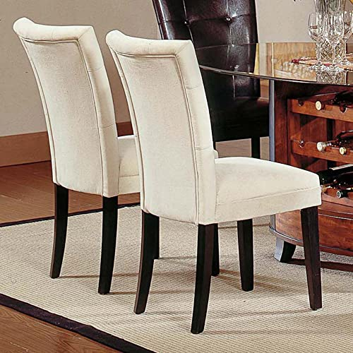 Steve Silver Portifino Parsons Dining Chairs – Beige Microfiber – Set of 2