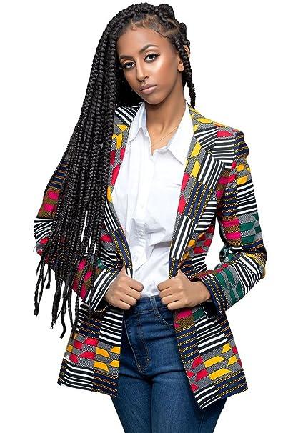 Amazon.com: lhayy Mujer Africana de moda Chaquetas de ...