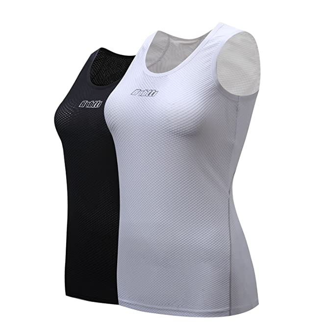 Bpbtti Women's Sleeveless Cycling Undershirt Quick Dry Bike Base Layer Biking Vests Breathable Sports Tops
