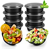 Meal Prep Containers 10 Pack Premium Quality Meal Prep Plastic Microwavable Food Containers for adults (BPA free Food Grade/Freezer/Dishwasher Safe) (advanced) (Upgraded)