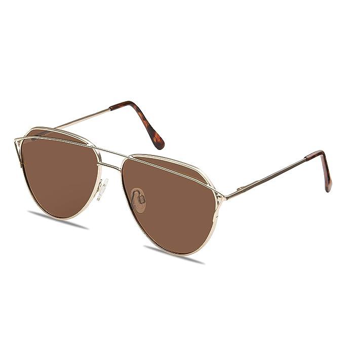 Amazon.com: Gafas de sol polarizadas de moda Aviator de ...