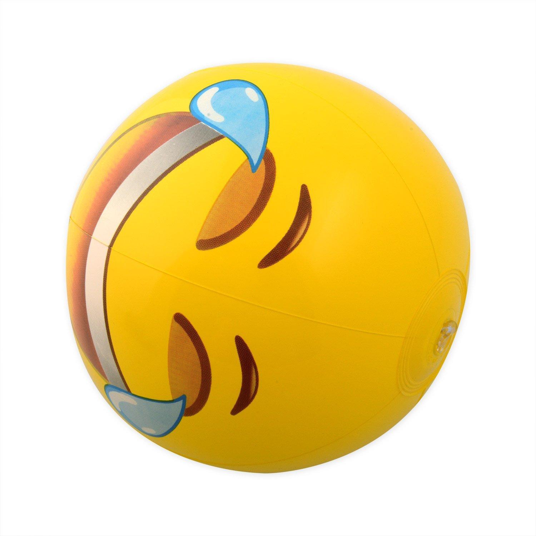 Kangaroo Emoji Universe: 12'' Emoji Inflatable Beach Balls, 12-Pack by Kangaroo (Image #3)