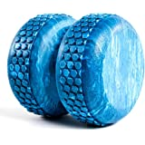 Power Systems Myo-Roller, Textured Roller Massage Therapy Aid for Recovery, Myofascial Release and Spinal Alignment, 6 x 6 Inches, Blue Marble (80675)