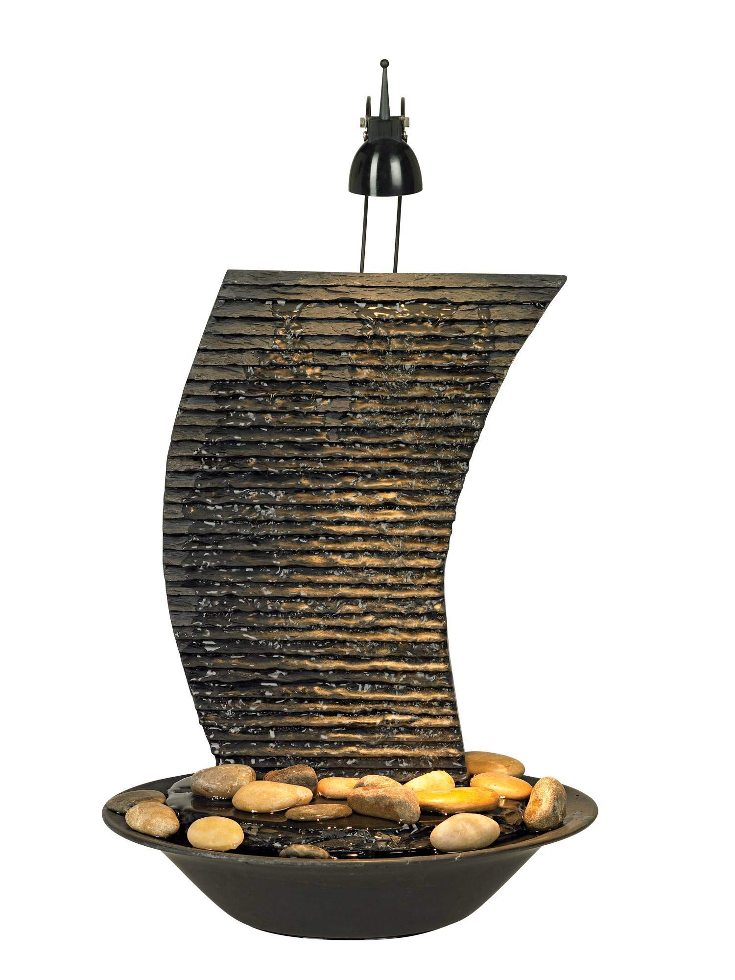 John Timberland Water Ripple 17 1/4'' High Lighted Table Fountain by John Timberland