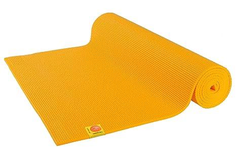 Esterilla de yoga (4.5 mm, no tóxica), color amarillo azafrán