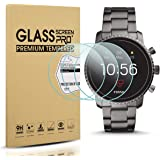 Diruite 3-Pack for Fossil Q Explorist HR Gen 4 Screen Protector Tempered Glass for Q Explorist HR Smartwatch [2.5D 9H Hardness][Anti-Scratch][Optimized Version] - Permanent Warranty