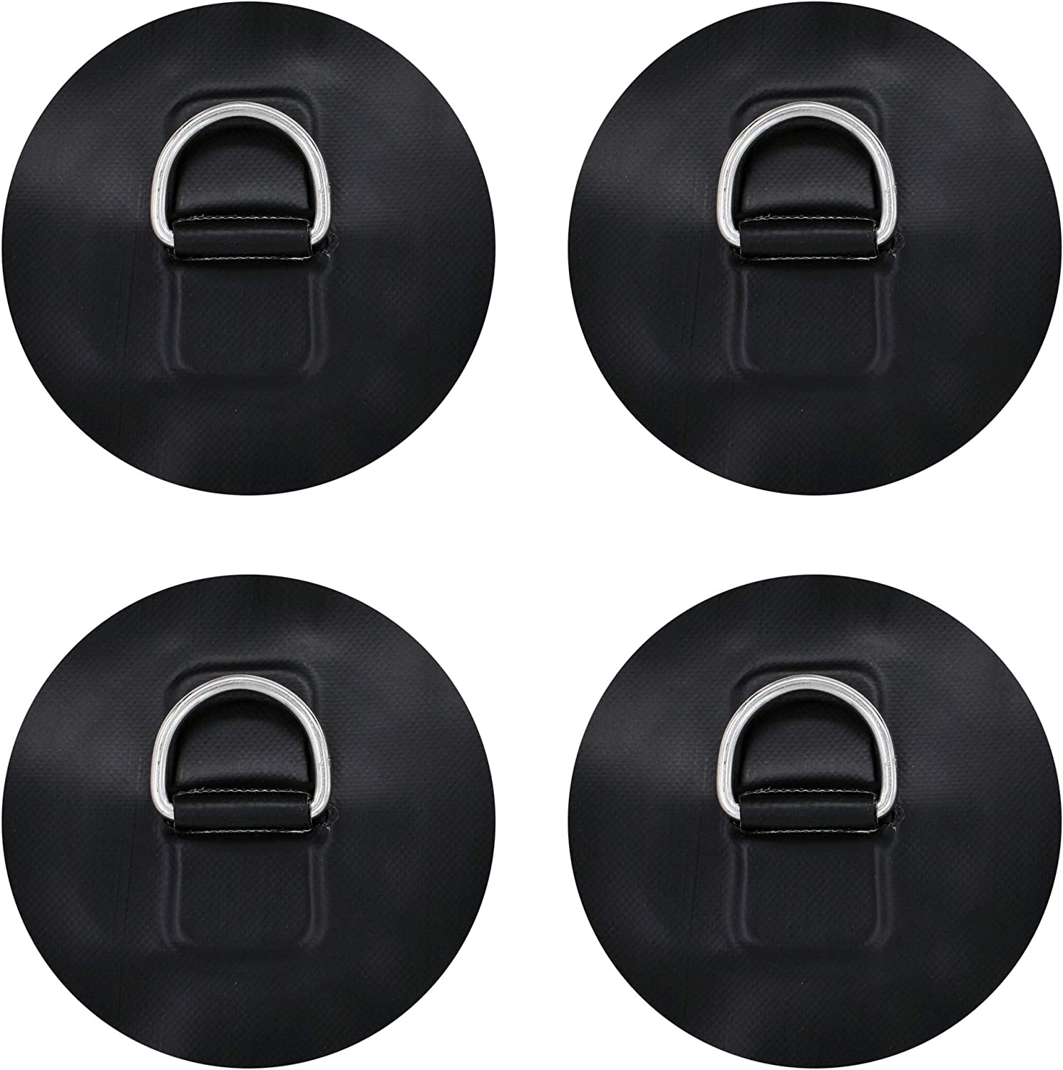 2pcs 8cm Stainless Steel D-ring Pad//Patch for PVC Inflatable Boat Raft Kayak
