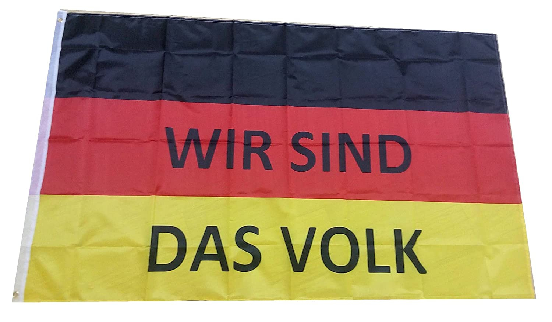 """Deutsches Reich Flagge, Pegida Demo,AfD Deutschland Fahne /""""Wir sind das Volk/"""""""