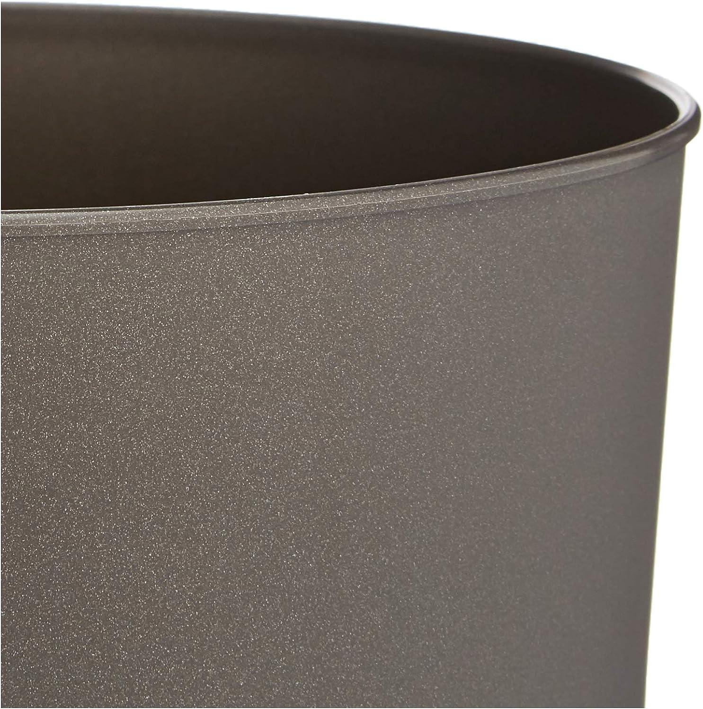 /único Metal Polipropileno Denox 10330.790 Papelera cil/índrica 11 L Color Blanco Mate