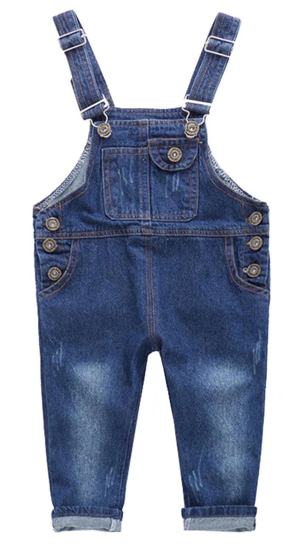 Ameyda Kids Little Girls Boys Denim Bib Overall Pants Jeans Trousers by Ameyda Kids