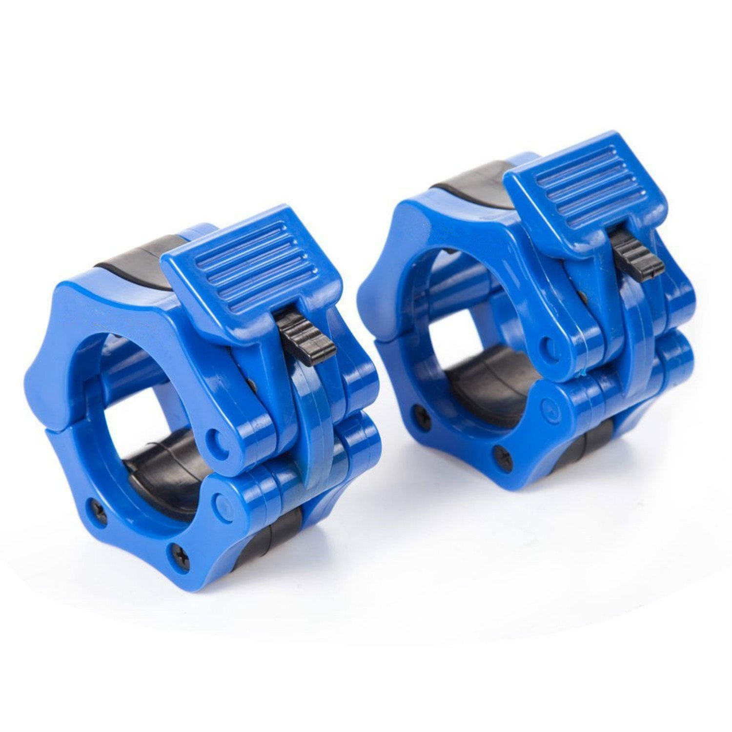 Workouty Pair of 2'' Olympic Barbell Collar Quick Release Barbell Clamp Lock Jaw for WeightLifting Crossfit Gym Exercise (Blue)