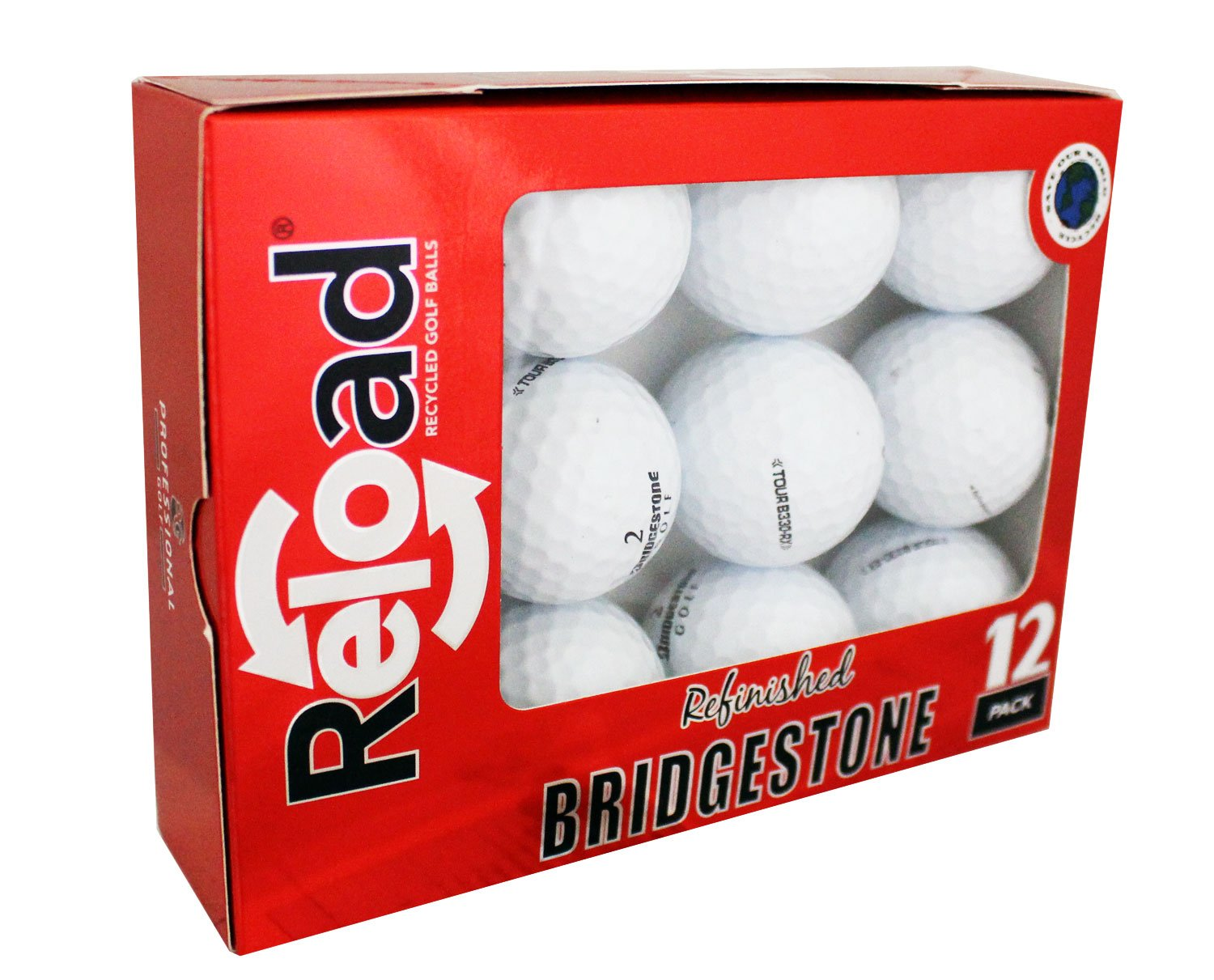 Reload Recycled Golf Balls Bridgestone B330-RX Refurbished Golf Balls (12 Pack)