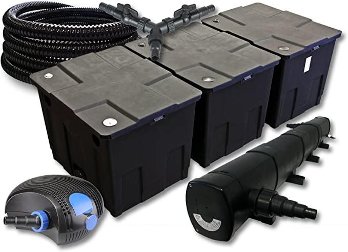 St/érilisateur NEO10000 80W Pompe Tuyau SunSun Kit de Filtration de Bassin 60000l 36W UVC 3