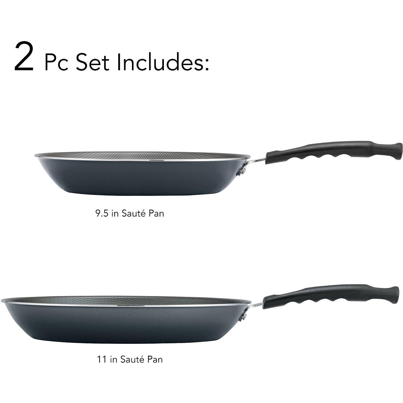 Tramontina PrimaWare 2-Piece Nonstick Saute Pan Set, Steel Gray