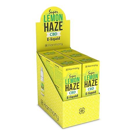 LIQUIDO HARMONY ORIGINAL con CBD 100mg (SIN NICOTINA) 10ML. (Super Lemon Haze)