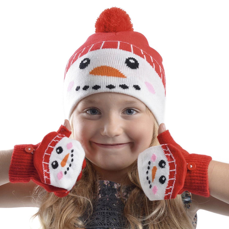 RJM - Set de Bufanda, Gorro y Guantes - Navidad - para niña GL901