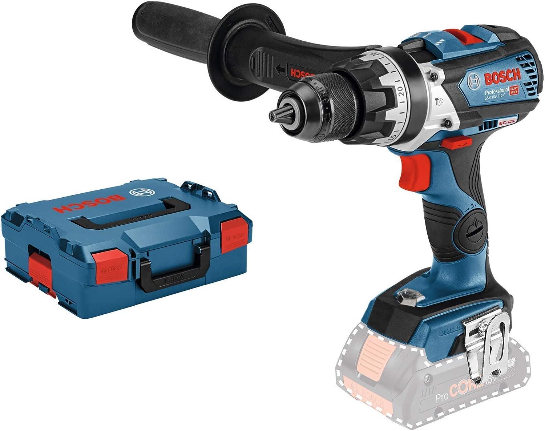 Bosch Professional GSB 18V-85 C Taladro percutor, 110 Nm, diámetro máximo tornillo 12mm, conectable, sin batería, en L-BOXX, 18 W, 18 V, Azul