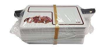 Pack 48 Tarjetas PVC Porta Precios para CARNICERIA + ...