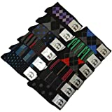 12 Pairs/6 Pairs Colorful Fashion Design Dress socks 10-13
