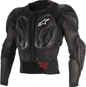 Alpinestars Men's Bionic Action Motorcycle Protection Jacket, Black/Red, Large