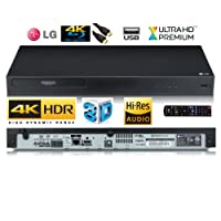 LG UBK80 4K Ultra HD HDR Blu-ray / DVD / CD Player with High Resolution Audio Full Function Remote / Inc High end USB Lead