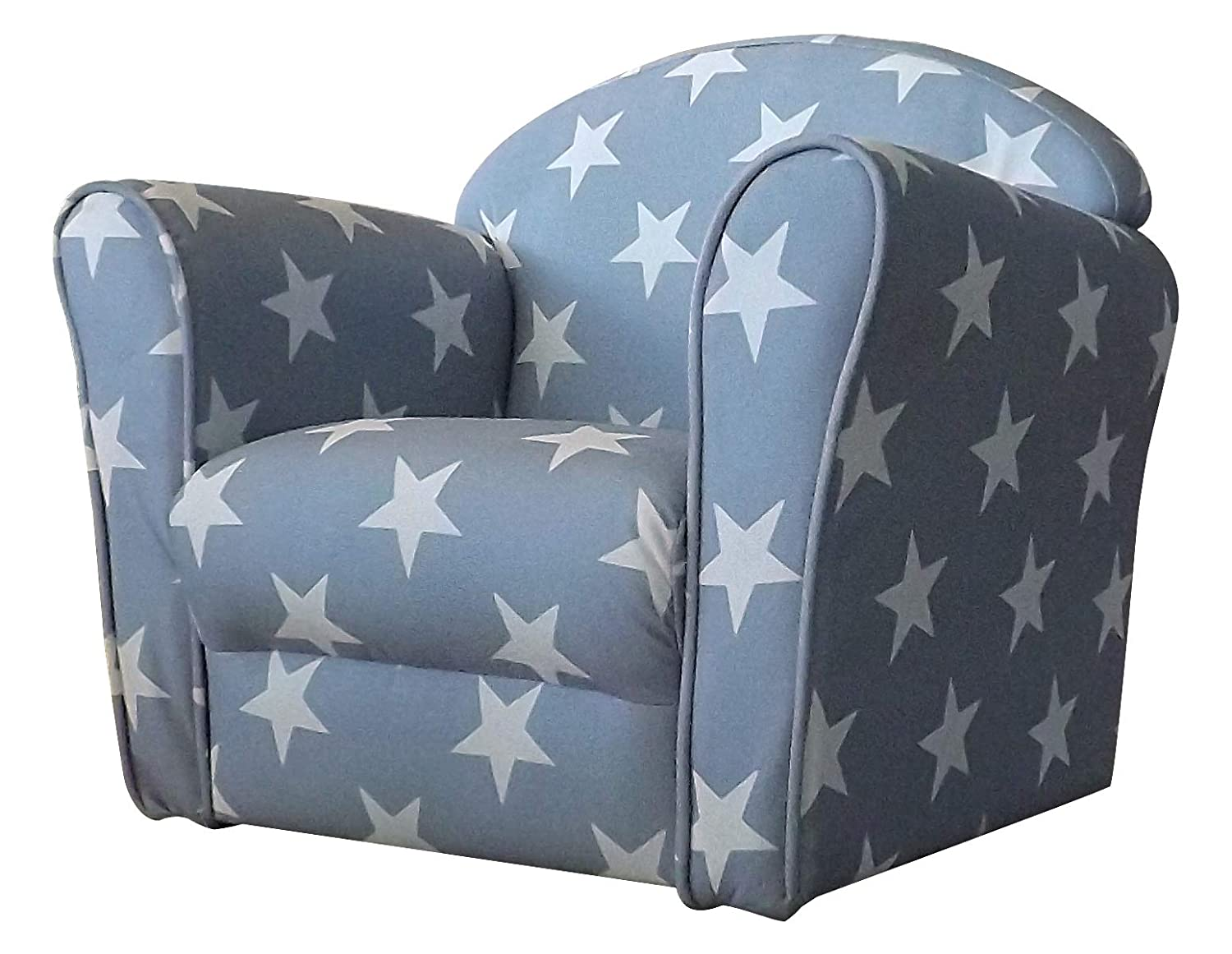 Kidsaw, Mini Armchair in Grey with White Stars