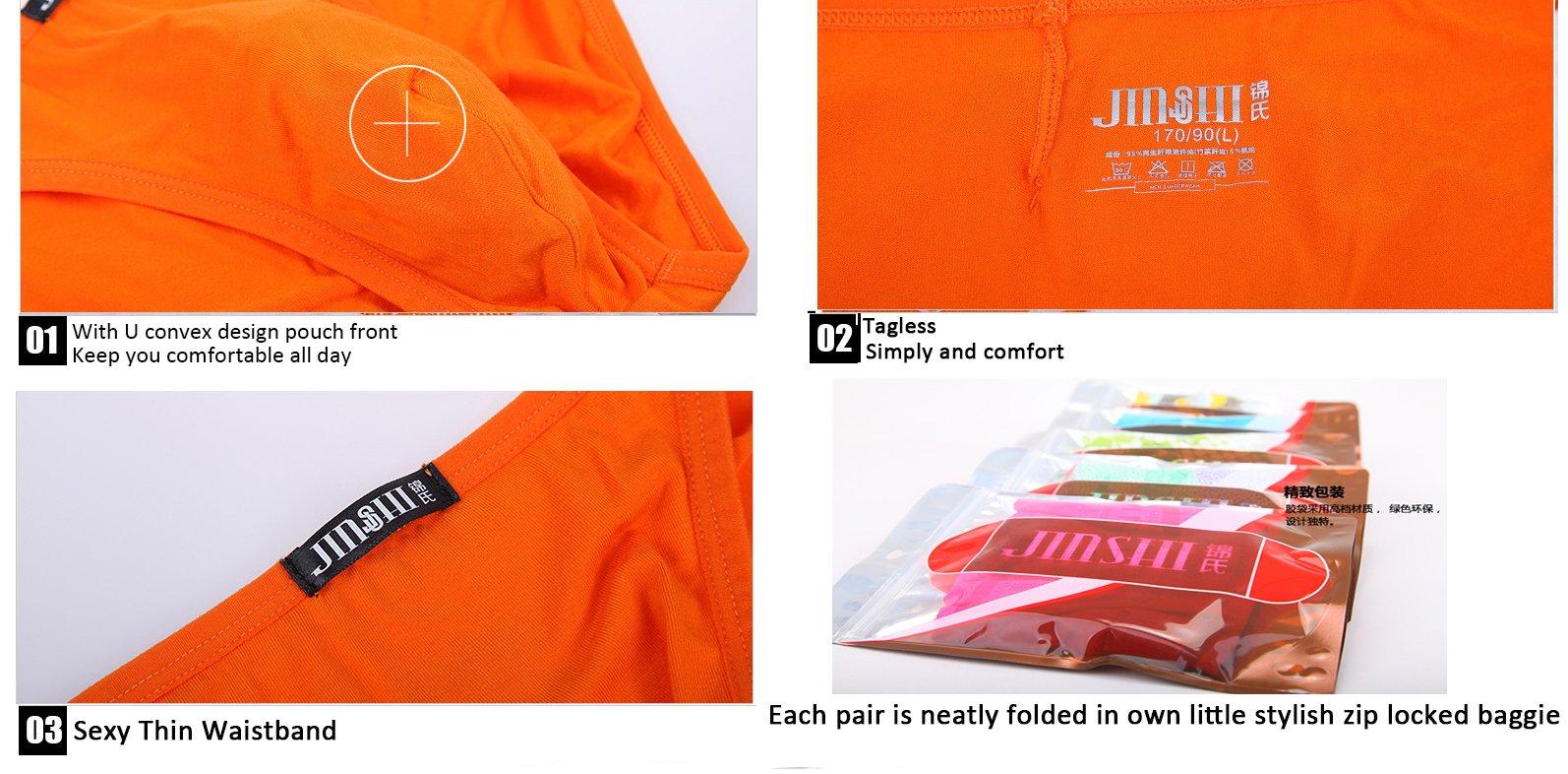 JINSHI Mens Bikini Briefs Low Rise Tagless Bamboo Underwear XXXL(39''-42'')/US size XL by xidunpai (Image #7)