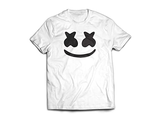 Marshmello Kids White T shirt childrens Youtube DJ music Electronic Cartoon