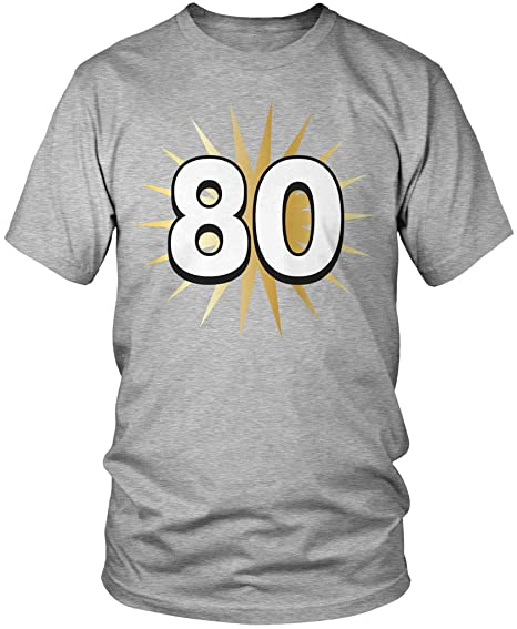 Amdesco 80th Birthday Shirt 80 Years Old Eightieth Mens T
