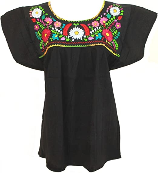 Amazon.com: Blusa mexicana Campesina Floral: Clothing