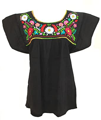 2c57de732a6 Mexican Blouse Campesina Floral at Amazon Women s Clothing store