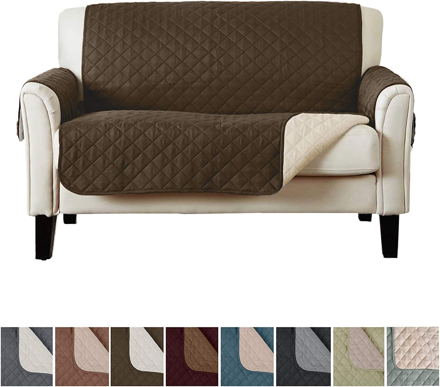 Sofa Dove-Bordeaux Sofa Cover Waterproof Quilted Reversible Mod