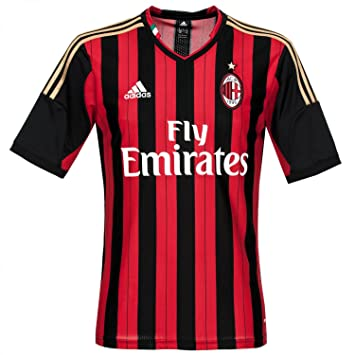 fcaa33f52 adidas Men s Short-Sleeved Football Shirt AC Milan Home Jersey  Multi-Coloured black