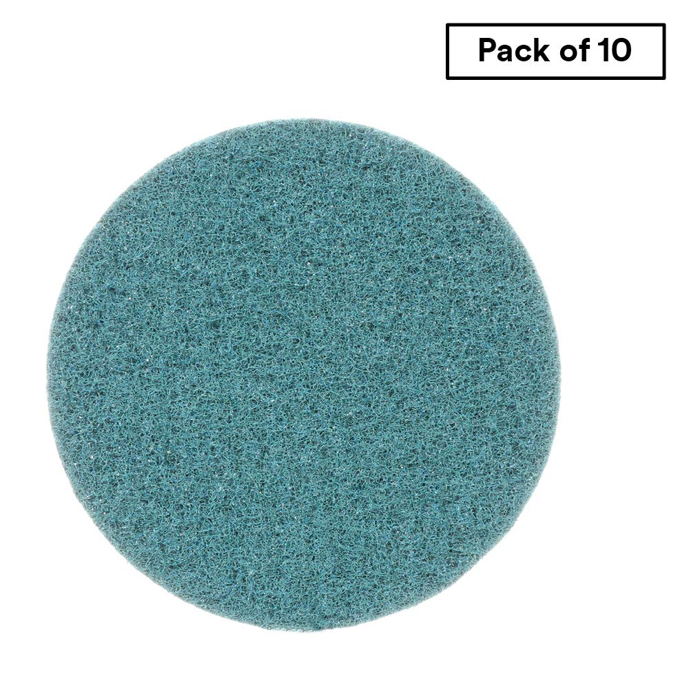 Scotch-Brite Surface Conditioning Disc for Sanding - Metal Surface Prep - Hook and Loop - Aluminum Oxide - Very Fine Grit - 5'' diam. - Pack of 10 by Cubitron