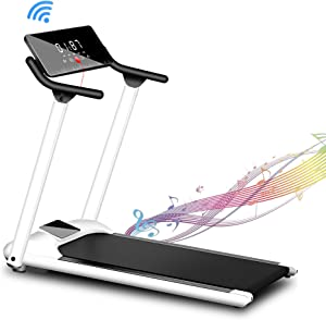 Beiqu Folding Treadmill,Treadmill for Home,Exercise Machine with Automatic Incline,Walking & Jogging Portable Running Machine with Bluetooth Speaker & Remote Control