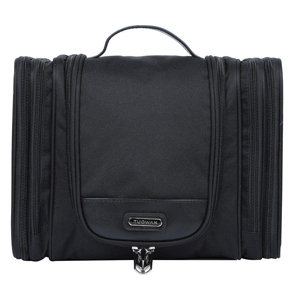 EGOGO Large Travel Toiletry Bag for Men Women Hanging Wash Bag Cosmetic Makeup Shaving Bag E528-5 Black