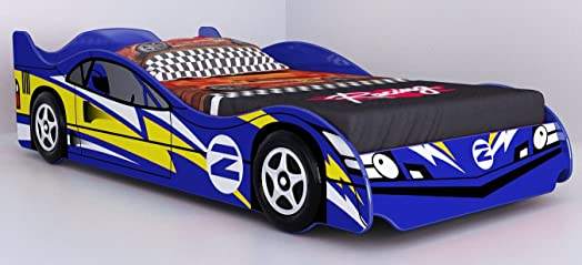 no 2 blue childrens car beds boys racing blue kids car bed frame