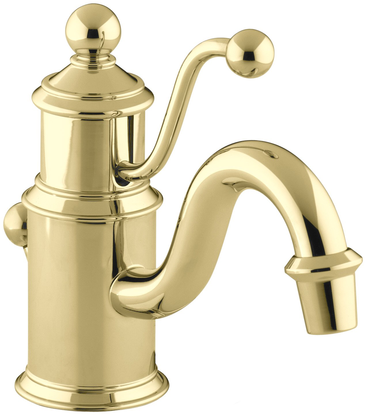 KOHLER K-139-PB Antique Single Hole Lavatory Faucet, Vibrant ...