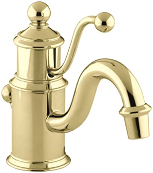 Kohler K 139 Pb Antik Single Loch WC Wasserhahn, Vibrant Messing Poliert